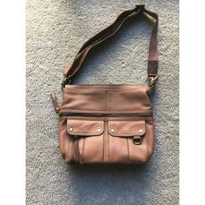 NWOT Fossil Leather Cross Body